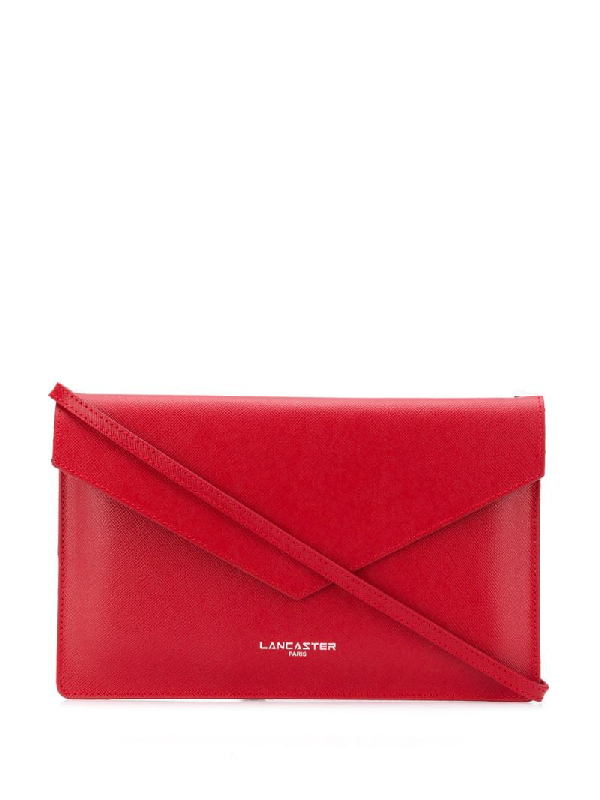 Lancaster Logo Clutch Bag In Red