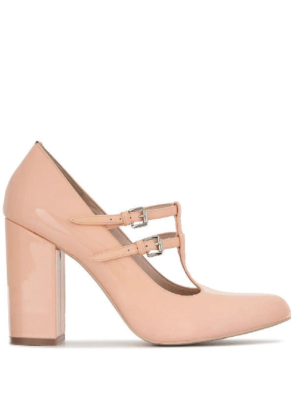 Macgraw Aviary T-bar 100mm Pumps In Pink