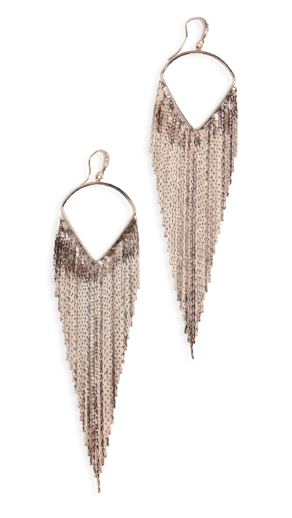 Theia Jewelry Waterfall Earrings In Antique Gold Finish