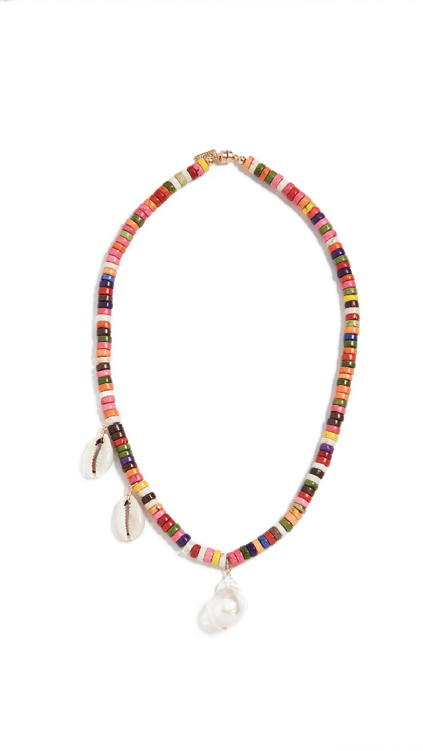Eliou Paxi Rainbow Necklace In Multi