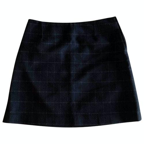 Claudie Pierlot Navy Wool Skirt