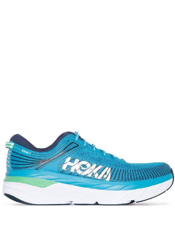 Hoka One One Bondi 7 Road Sneakers In Blue