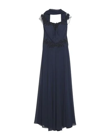 Romeo Gigli Long Dress In Dark Blue
