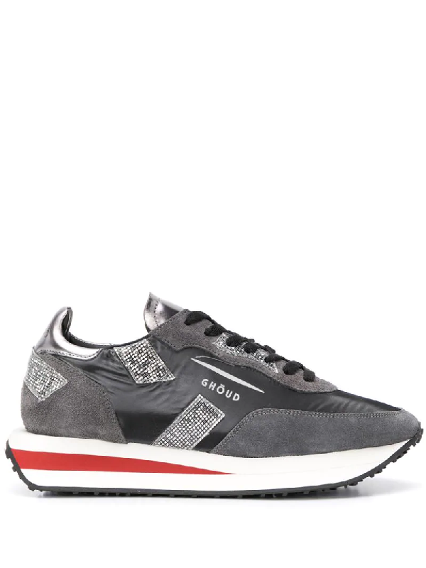 Ghoud Rush Suede And Nylon Sneakers Color Gray In Grey