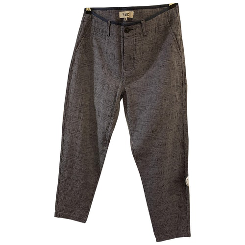 Ymc You Must Create Blue Cotton Trousers