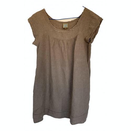 Bensimon Brown Linen Dress