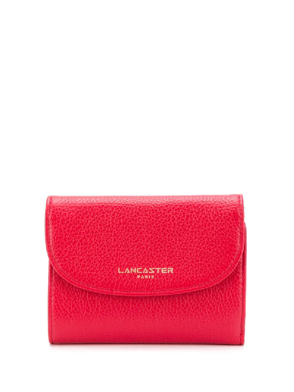 Lancaster Classic Fold Over Purse In Red