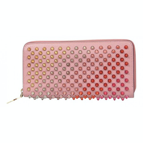 Christian Louboutin Panettone Pink Leather Wallet