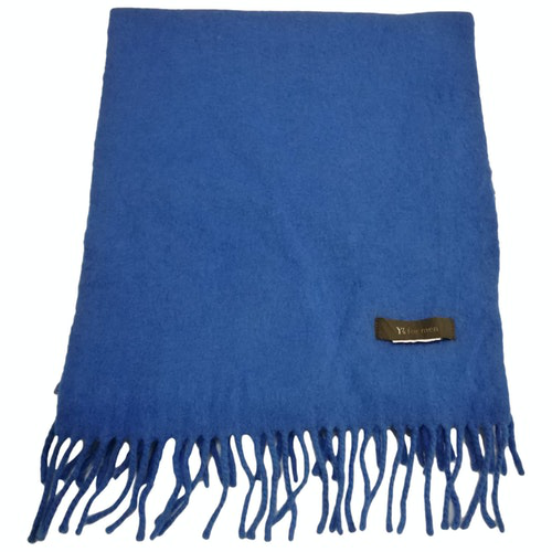 Y's Blue Cashmere Scarf & Pocket Squares