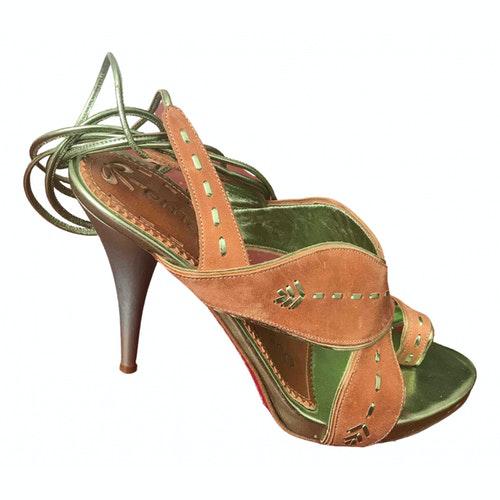 Emanuel Ungaro Camel Leather Sandals