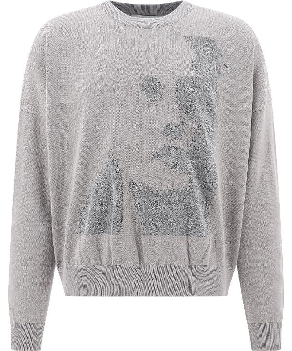 Heliot Emil Men's Grey Cotton Sweatshirt
