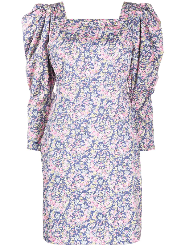 Philosophy Floral Print Mini Dress In Blue