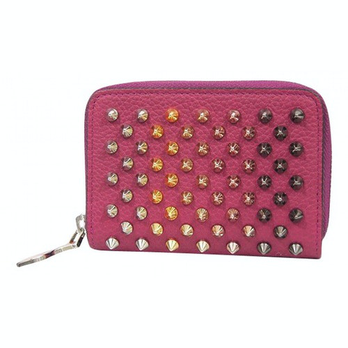 Christian Louboutin Pink Leather Purses, Wallet & Cases