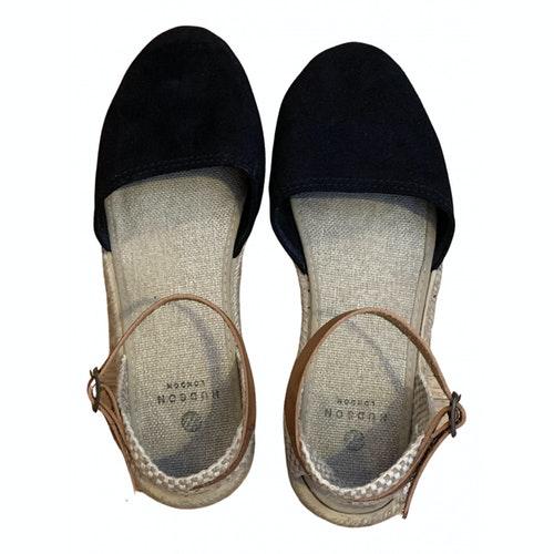 Hudson Navy Suede Sandals