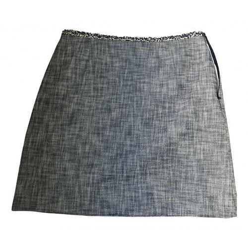 Claudie Pierlot Fall Winter 2019 Blue Tweed Skirt