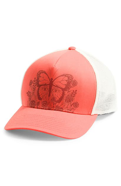 The North Face Keep It Structured Trucker Hat In Miami Orange/ Ketchup Red