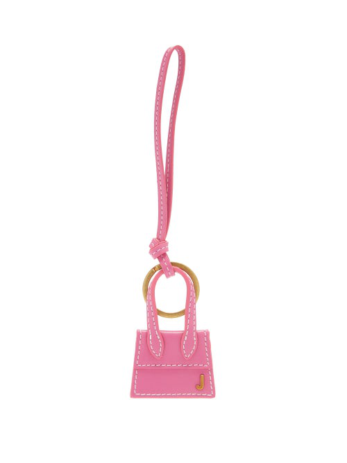 Jacquemus Le Porte Clés Chiquito Leather Keyring In Pink