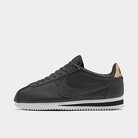nike women's classic cortez leather casual shoes in black