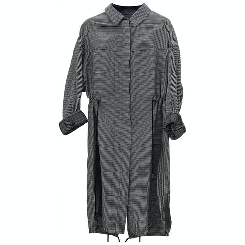 Christian Wijnants Grey Cotton Trench Coat