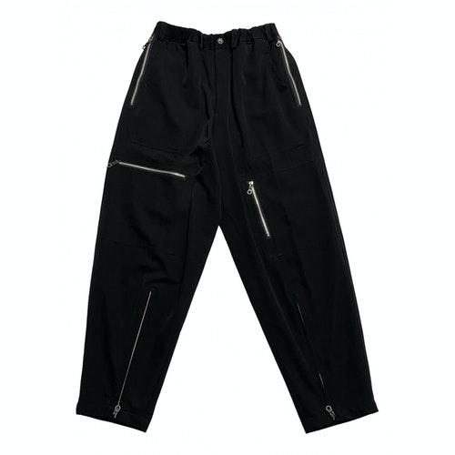 Y's Black Wool Trousers