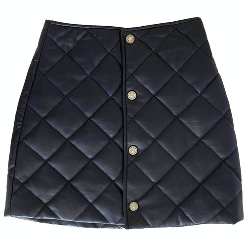 Claudie Pierlot Blue Leather Skirt