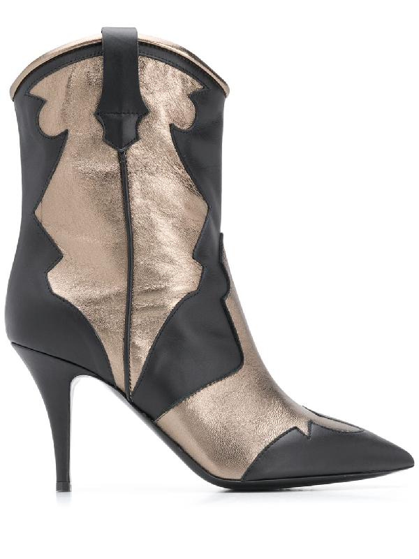 Pollini Stivaletto Ankle Boots In Black