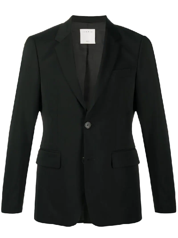 Sandro One-button Tailor Blazer In Black