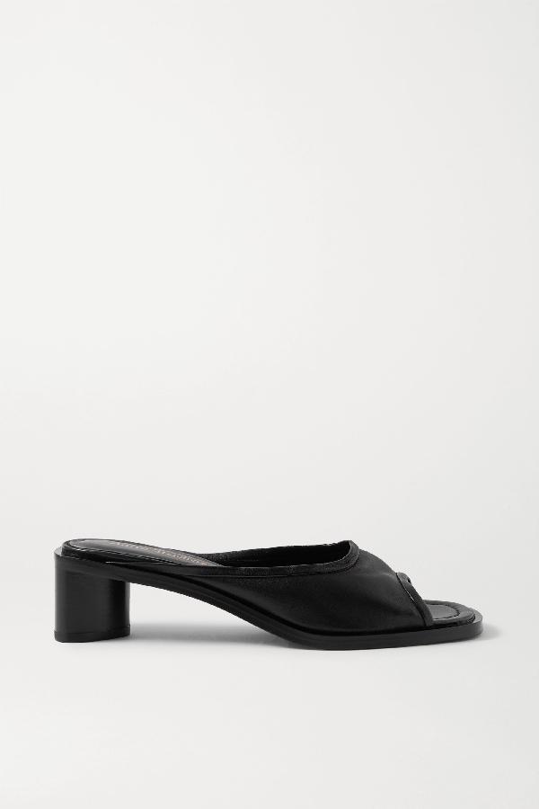 Acne Studios Open-toe Leather Mules Black/black