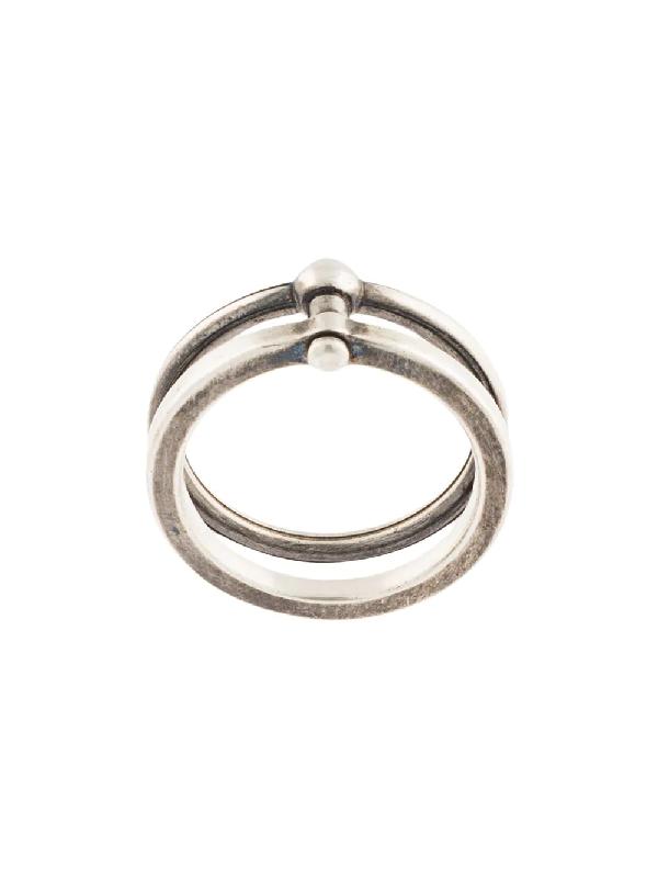 Werkstatt:münchen Double Ring In Silver