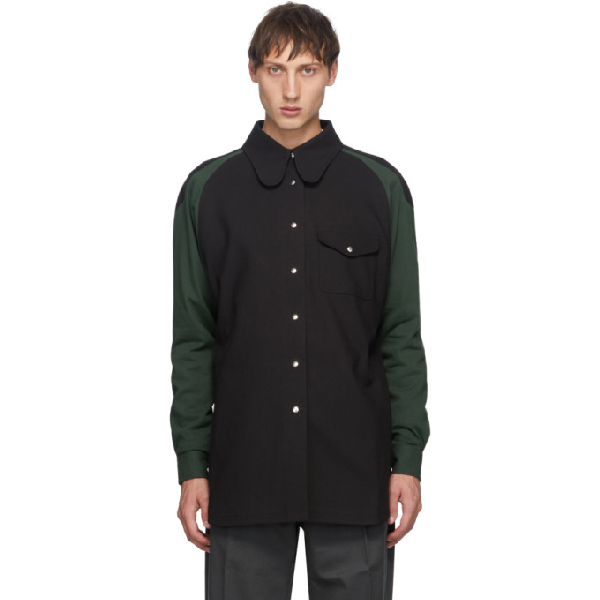 Keenkee Black And Green Curves Shirt In Black/green