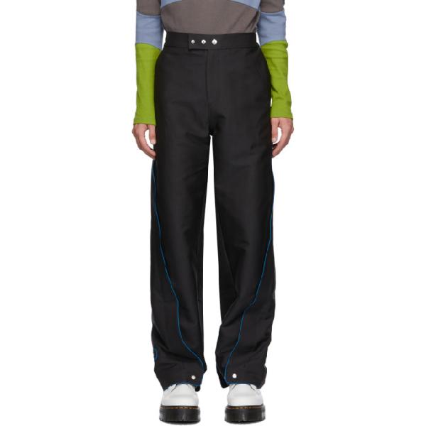 Keenkee Black Wide Side Panel Trousers