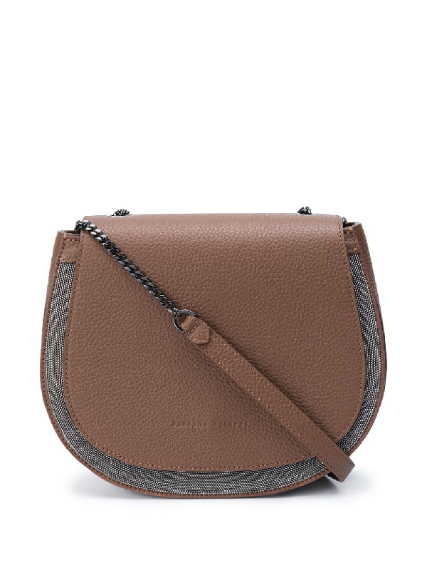 Fabiana Filippi Adriana Leather Crossbody Bag In Brown