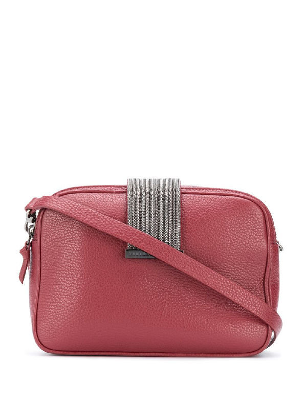 Fabiana Filippi Double-top Zip Shoulder Bag In Red