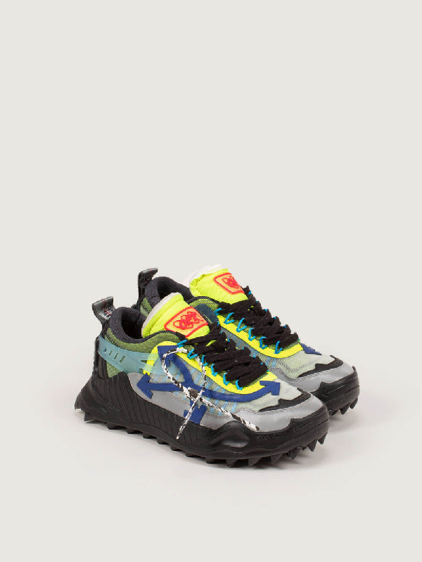 Off-white Odsy-1000 Panelled Mesh Sneakers In Black