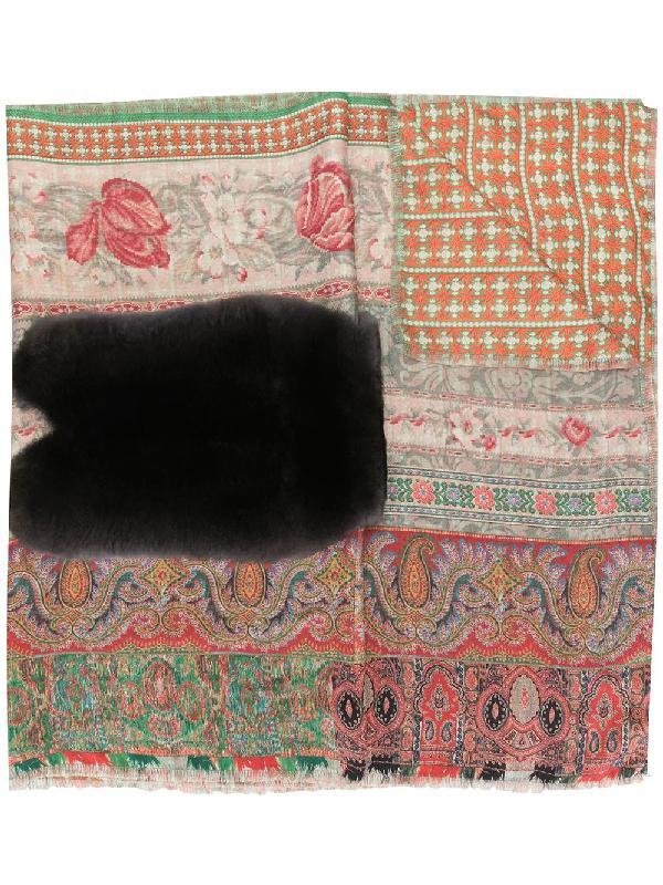 Pierre-louis Mascia Mixed-print Silk Scarf In Multicolour
