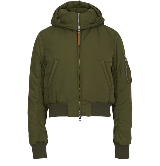 Loewe Cropped Puffer Jacket In Green