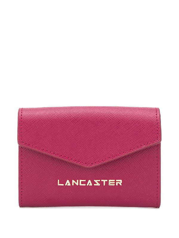 Lancaster Envelope Logo Wallet In Red
