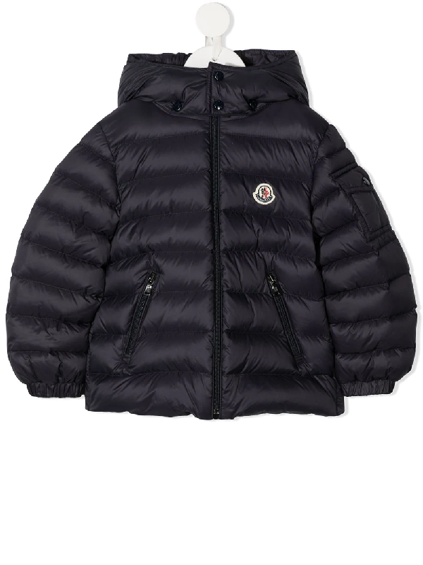 Moncler Baby Jules Quilted Down Coat In Blue