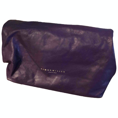 Simon Miller Small Lunch Bag Purple Leather Clutch Bag
