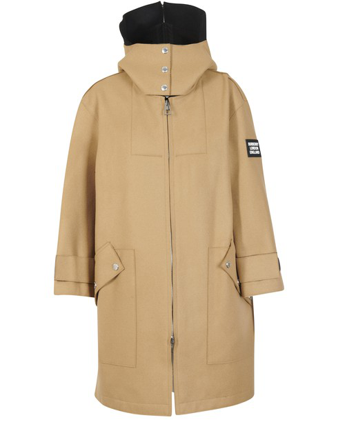 Burberry Lisburn Wool-blend Hooded Duffle Coat In Camel