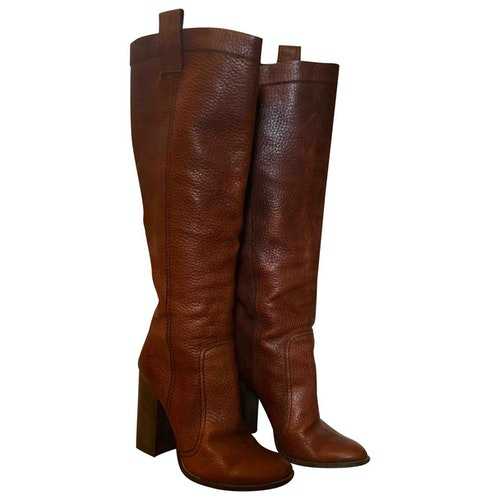 Dsquared2 Brown Leather Boots