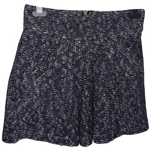 Claudie Pierlot Blue Wool Skirt