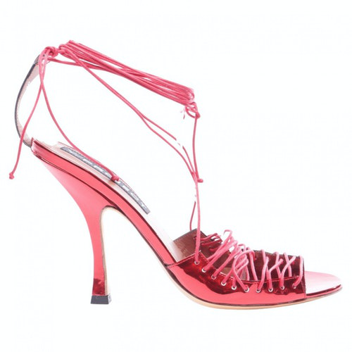 Y/project Red Exotic Leathers Sandals