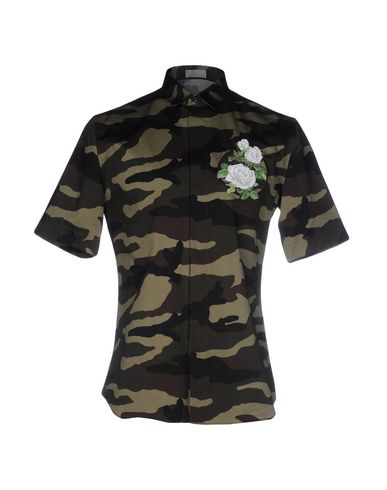 Dior Patterned Shirt In Military Green