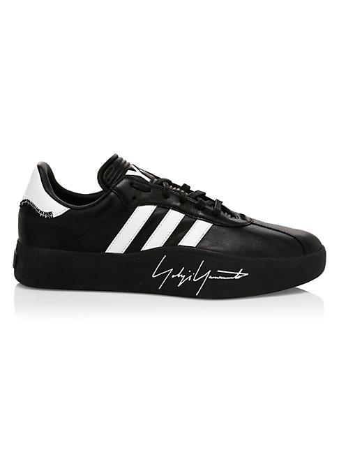 Y-3 Tangutsu Football Sneaker In Black Leather