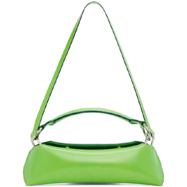 Venczel Green Elan Shoulder Bag In Poisongreen