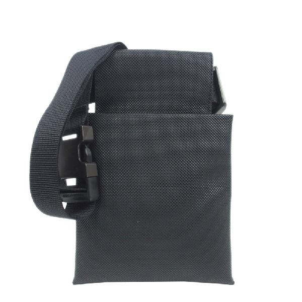 Bottega Veneta Black Coated Canvas Belt Bag