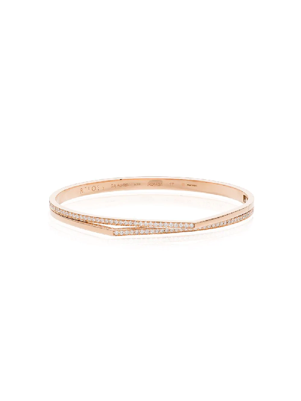 Repossi 18kt Rose Gold Antifer Diamond Double Bangle