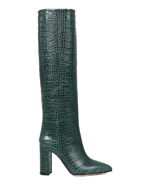 Paraboot Green Leather Boots
