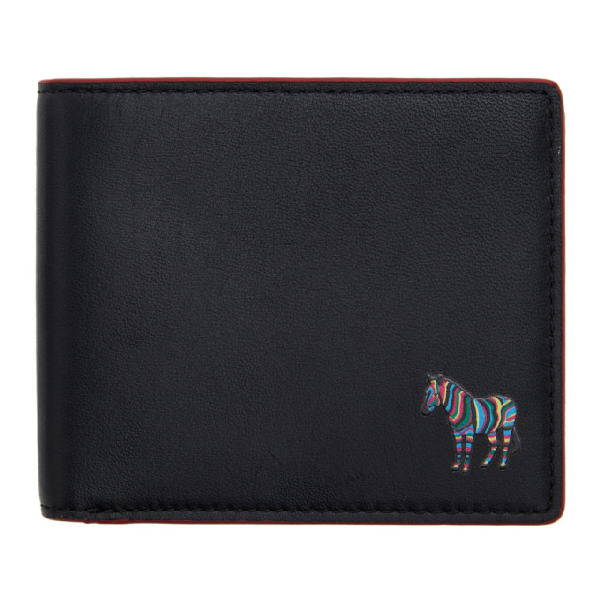 Ps By Paul Smith Black And Red Zebra Billfold Wallet In Black 78